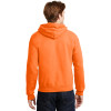 Gildan Enhanced Visibility Heavy Blend Pullover Hooded Sweatshirt 18500 Safety Orange/Back