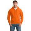 Gildan Enhanced Visibility Full-Zip Hooded Sweatshirt 18600 Safety Orange/Front
