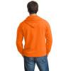 Gildan Enhanced Visibility Full-Zip Hooded Sweatshirt 18600 Safety Orange/Back