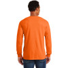 Gildan Enhanced Visibility Ultra Cotton Long Sleeve T-Shirt with Pocket 2410 Safety Orange Back