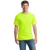 Gildan Non-ANSI Hi Vis Heavy Cotton T-Shirt 5000 Safety Green/Front