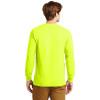 Gildan Hi Vis Ultra Cotton Long Sleeve T-Shirt G2400 Safety Green Back