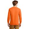Gildan Hi Vis Ultra Cotton Long Sleeve T-Shirt G2400 Safety Orange Back