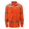 GSS Class 3 Hi Vis Orange Lightweight Rip Stop Work Shirt 7506