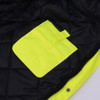 GSS Class 3 Hi Vis Premium ONYX Lime 3-in-1 Winter Parka Jacket with Teflon Protector 8505 Inside Pocket
