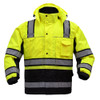 GSS Class 3 Hi Vis Premium ONYX Lime 3-in-1 Winter Parka Jacket with Teflon Protector 8505 Front