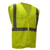 GSS Class 2 Hi Vis Lime Mesh Vest with Zipper and ID Pocket 1009