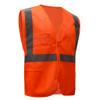 GSS Class 2 Hi Vis Orange Mesh Vest with Zipper and ID Pocket 1010