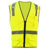 GSS Class 2 Hi Vis Lime Mesh Vest with 6 Pockets 1505
