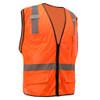 GSS Class 2 Hi Vis Orange Mesh Vest with 6 Pockets 1506