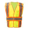 GSS Class 2 Hi Vis Lime Adjustable Vest with 2 Tone Trim 1803 Front