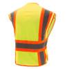 GSS Class 2 Hi Vis Lime Adjustable Vest with 2 Tone Trim 1803 Back