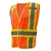 GSS Class 2 Hi Vis Orange Adjustable Vest with 2 Tone Trim 1804 Left Side