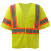GSS Class 3 Hi Vis Lime Two Tone Economy Vest with Hook and Loop 2007 Front