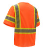 GSS Class 3 Hi Vis Orange 2 Tone Trim Economy Vest with Hook and Loop 2008 Back
