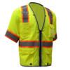 GSS Class 3 Hi Vis Lime Two Tone Mesh Vest with 6 Pockets 2701 Left Side