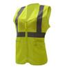 GSS Class 2 Hi Vis Lime Mesh Adjustable Ladies Vest 7803 Side