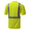 GSS Class 2 Hi Vis Yellow Moisture Wicking T-Shirt 5001 Back
