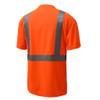 GSS Class 2 Hi Vis Orange Class 2 Short Sleeve T-Shirt 5002 Back