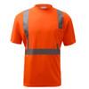 GSS Class 2 Hi Vis Orange Class 2 Short Sleeve T-Shirt 5002 Front