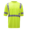 GSS Class 3 Hi Vis Lime Moisture Wicking T-Shirt 5007 Front