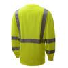 GSS Class 3 Hi Vis Lime Long Sleeve Moisture Wicking T-Shirt 5505 Back