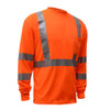 GSS Class 3 Hi Vis Orange Long Sleeve T-Shirt 5506 Right Side
