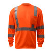 GSS Class 3 Hi Vis Orange Long Sleeve T-Shirt 5506 Front