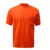 GSS Non-ANSI Hi Vis Orange Moisture Wicking T-Shirt 5502 Front