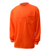 GSS Non-ANSI Hi Vis Orange Long Sleeve T-Shirt 5504 Left Side