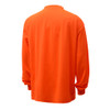 GSS Non-ANSI Hi Vis Orange Long Sleeve T-Shirt 5504 Back