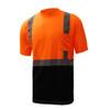 GSS Class 2 Hi Vis Orange Black Bottom T-Shirt 5112 Left Side