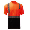 GSS Class 2 Hi Vis Orange Black Bottom T-Shirt 5112 Front