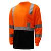 GSS Class 3 Hi Vis Orange Black Bottom Long Sleeve T-Shirt 5114 Left Side
