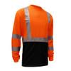 GSS Class 3 Hi Vis Orange Black Bottom Long Sleeve T-Shirt 5114 Right Side