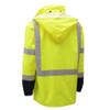 GSS Class 3 Hi Vis Lime Raincoat with Black Bottom 6003 Back