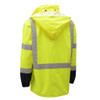 GSS Class 3 Hi Vis Lime Raincoat with Black Bottom 6003 Back