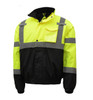 GSS Class 3 Hi Vis Lime Winter Bomber Jacket with Quilt Lining 8001 Right Side