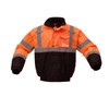GSS Class 3 Hi Vis Orange Winter Bomber Jacket with Quilt Lining 8002 Front