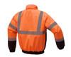 GSS Class 3 Hi Vis Orange Winter Bomber Jacket with Quilt Lining 8002 Back