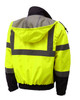 GSS Class 3 Hi Vis Lime 3-in-1 Jacket with Ripstop Bottom 8003 Back