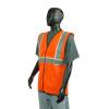 Alpha Workwear Class 2 Hi Vis Illuminating Safety Vest Glow A200 Orange Side