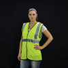Alpha Workwear Class 2 Hi Vis Illuminating Safety Vest Glow A200 In Use