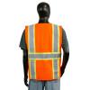Alpha Workwear Class 2 Hi Vis Glow in the Dark Surveyor Vest A202 Orange Back