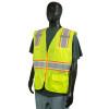 Alpha Workwear Class 2 Hi Vis Glow in the Dark Surveyor Vest A202 Side