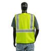 Alpha Workwear Class 2 Hi Vis Glow in the Dark Breakaway Vest A203 Back
