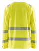 Blaklader Class 3 Hi Vis Yellow LS T-Shirt with UV 40 Protection 348810113300 Back