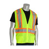 PIP Class 2 Hi Vis Two-Tone Yellow Mesh Vest with D-Ring Access 302-0600D Yelllow Front