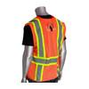 PIP Class 2 Hi Vis Two-Tone Orange Mesh Vest with D-Ring Access 302-0600D Orange Back