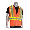 PIP Class 2 Hi Vis Two-Tone Orange Mesh Vest with D-Ring Access 302-0600D Orange Front